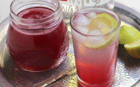 Rhubarb Rosewater Syrup