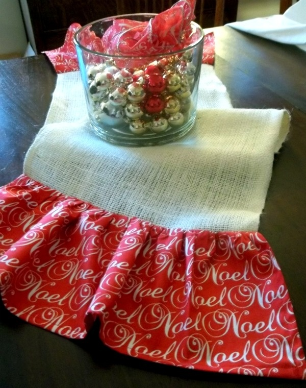 ms redo holiday table runner tutorial