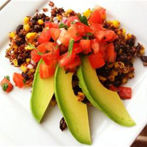 FABULISH: QUINOA WITH BLACK BEANS: Black Beans, Bliss Allrecipes Com, Bliss Recipes Vegans, Sound Yummy, Allrecipes With Salsa, Beans Dinners, Beans Bliss, Favorite Recipes, Beans Dishes