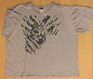 Liquid Blue Gray Skeleton Graphic Tee Shirt Men's Size Big & Tall 5X D11