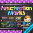 These printables feature 9 punctuation marks with sentence examples and coordinating clip art.  This set includes: •10 Posters (PDF Files) -Period ...