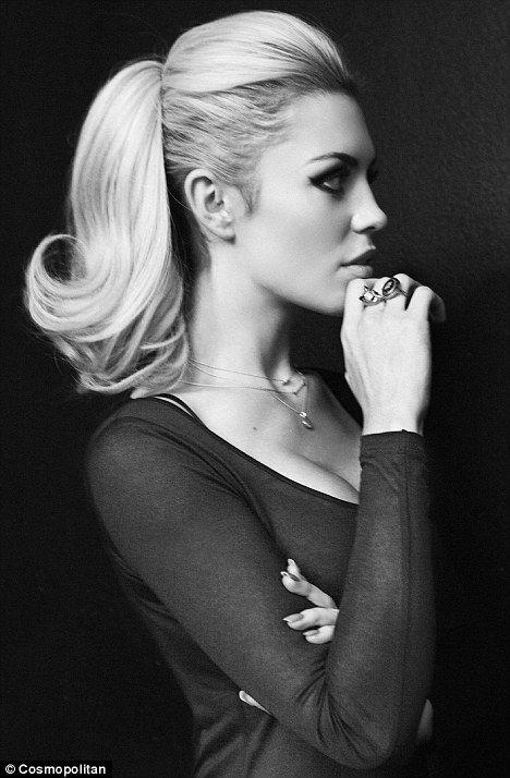 classic... hairstyle ponytail elegant chic black white sepia