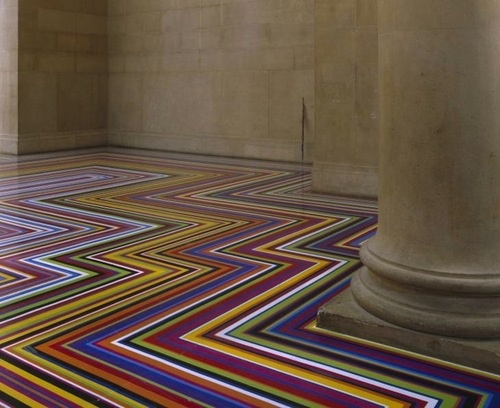 Floor Installations made with tape by Jim LambieFloors Installations, Inspiration, Design Ideas, Colors, Tape Art, Jim Lambie, Floors Design, Artists Jim, Vinyls Tape