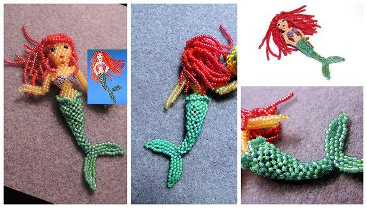 3D Beaded Little Mermaid Doll Pattern | Bead-Patterns.com