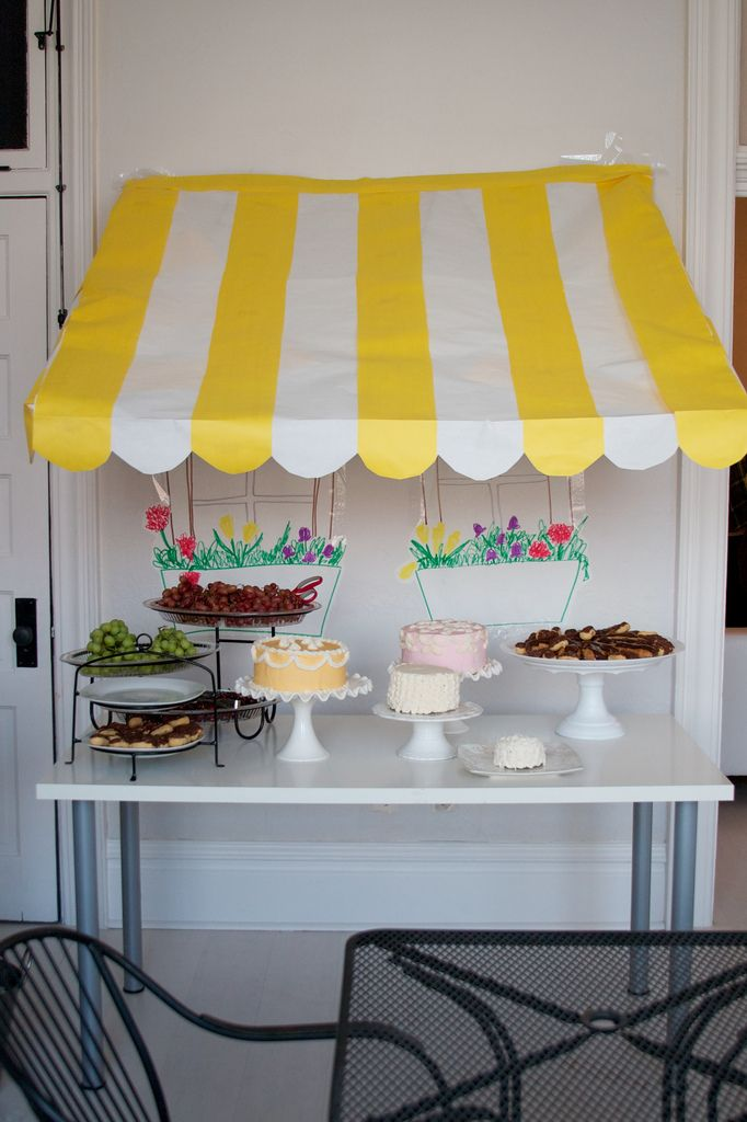 french cafe themed party