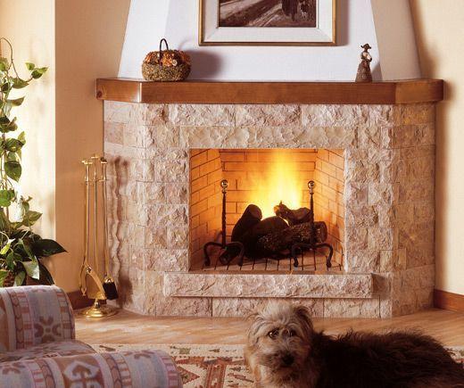 Oltre 25 fantastiche idee su camino aperto su pinterest - Revestimientos de chimeneas rusticas ...