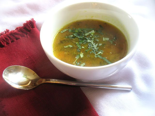 Tamarind Broth with Puréed Toor Dal and Spices. Simple, hot, sour and comforting mulligatawny-style soup with earthy toor dal, tomato and spices.