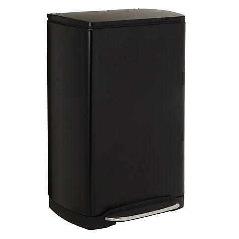 BOUGHT- Buy simplehuman Wide-Pedal Rectangular Bin, Black Steel, 38L Online at johnlewis.com