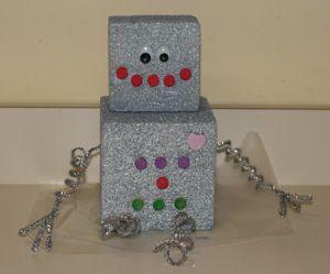styrofoam robot craft