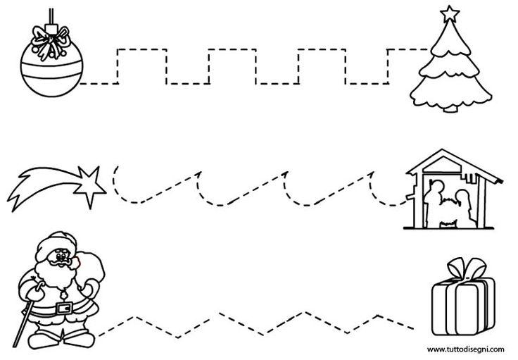 Ασκήσεις pregrafismo - Σχέδια των Χριστουγέννων