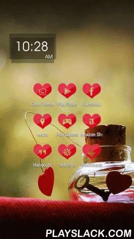 Valentines Day Red Heart Theme  Android App - playslack.com , Cobo Themes are designed for Cobo Launcher .Maybe Valentine's Day should not be noisy, but a quiet day. Maybe after one or two years, or a decade or two, you need to thank your partner's company through such a long time. The Valentine's Day is not just a day for younger lovers; it is also designed for couples who have golden anniversary. In the picture, the little key figure as a symbol of love, that can open the door of your…