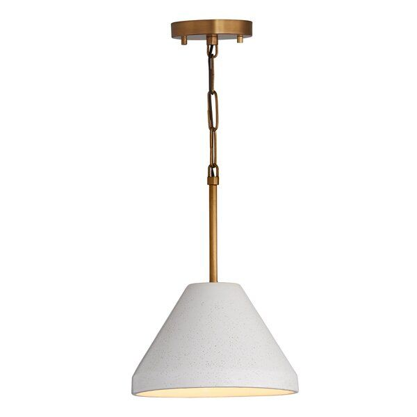 Wrought Studio Essie Ceramic 1 Light Cone Pendant Wayfair Cone