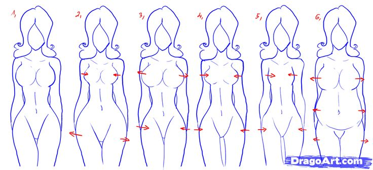 How to draw female figures draw female bodies step by step
