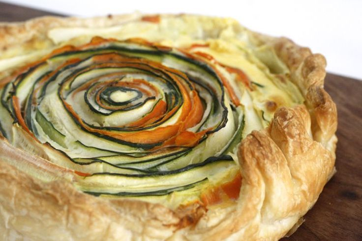 5 or less: Spiraalquiche, wát een beauty is het! #diner #hapje #vega #quiche