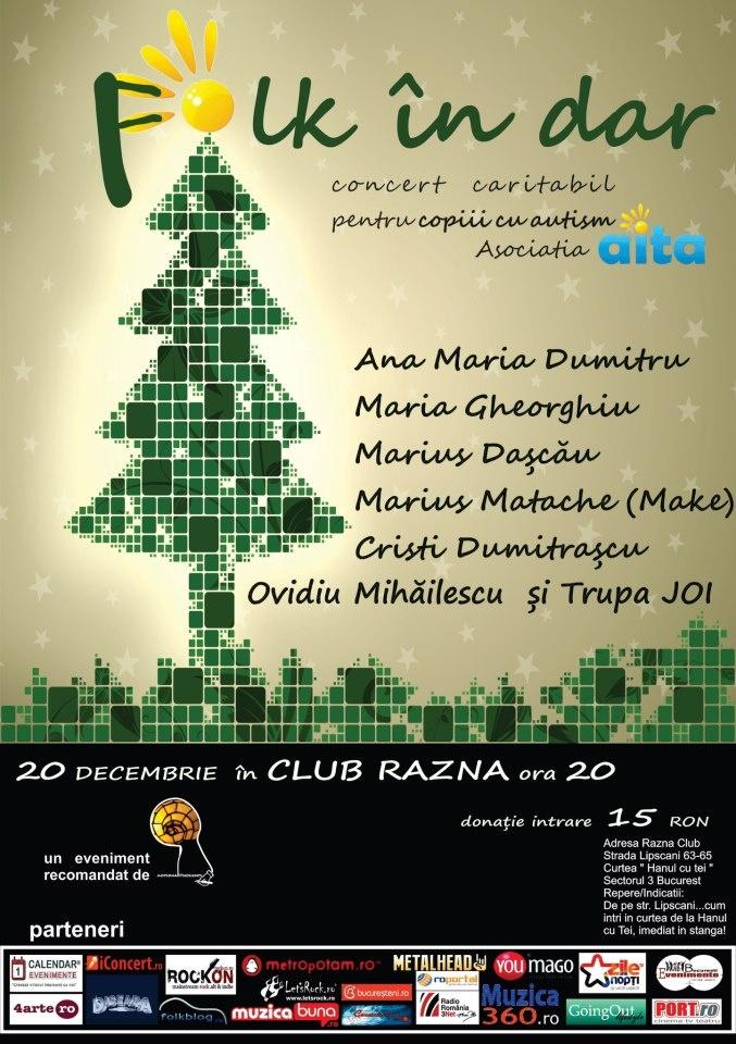 Ultimul concert din acest an in Bucuresti, un eveniment caritabil in Club Razna