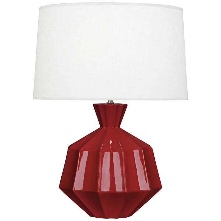 Robert Abbey Orion Oxblood Ceramic Table Lamp - #9R957 | Lamps Plus