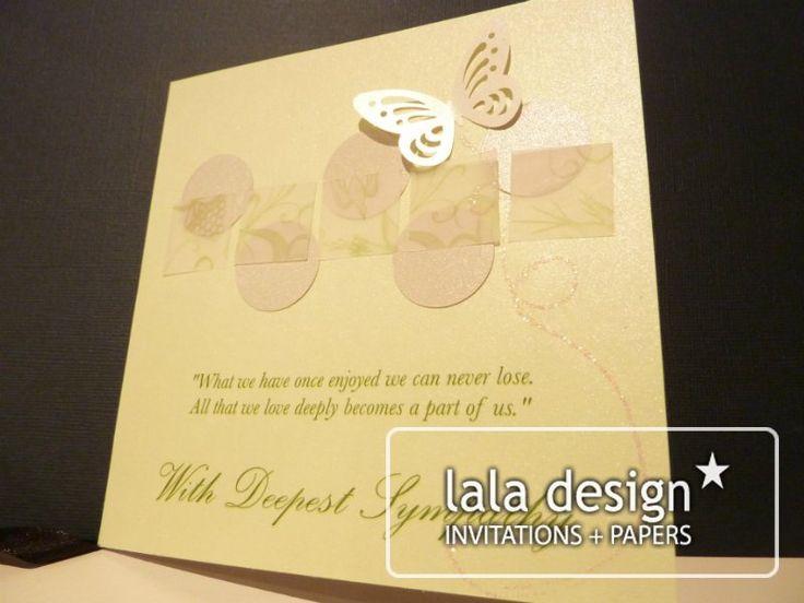 Handmade smypathy card
