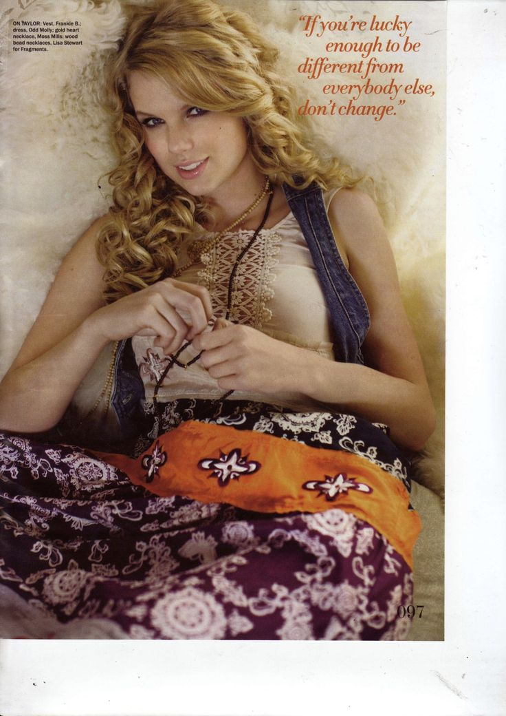 Talented singer Taylor Swift in Odd Molly dress