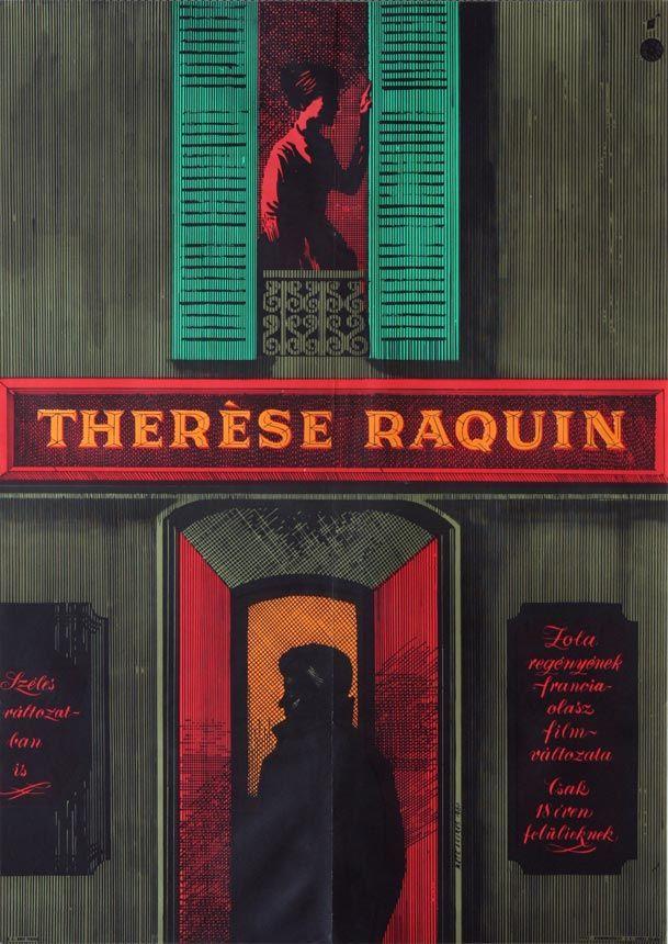 Thérèse Raquin (1953) Director: Marcel Carné  Hungarian vintage movie poster Artist by Máté András