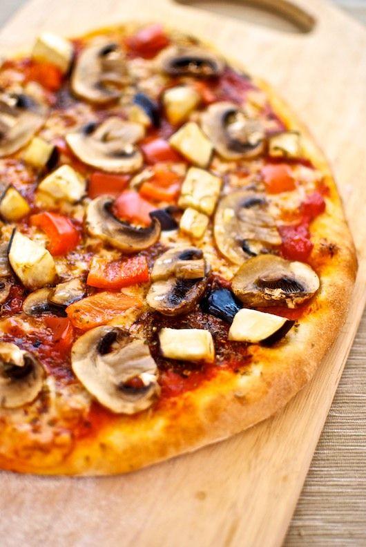 Pizza casera de champiñones, receta italiana con Thermomix « Thermomix en el mundo