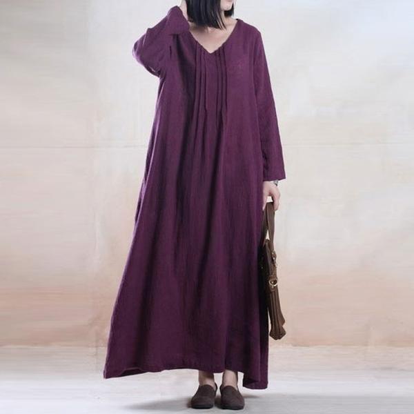Casual Loose Cotton Linen Dress