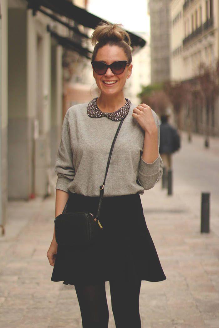 Black Skirt ( Sweatshirts & Skirts )
