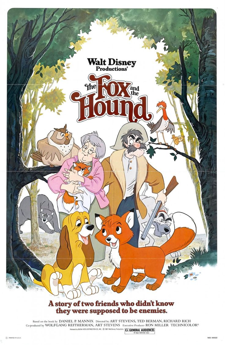 extra large movie poster image for the fox and the hound