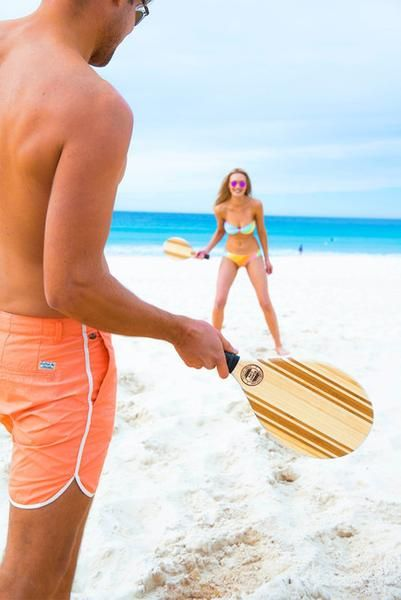SUNNYLIFE  | Frescobol Deluxe Beach Paddles - LET THE GAMES BEGIN
