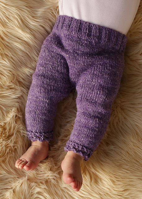 Basic Baby Pants by Susan Galbraith. Knitted baby joggers. knitted baby leggings, knitting baby trousers. DK baby projects. The Fibre Co. Savannah DK