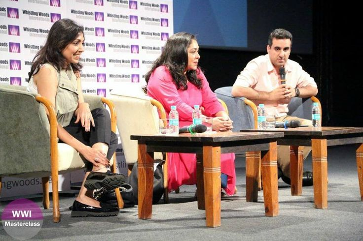 L-R: Priti Shahani, Meghna Gulzar at the #WWIMasterclass. The session was moderated by #WWIFaculty, Rahul Puri