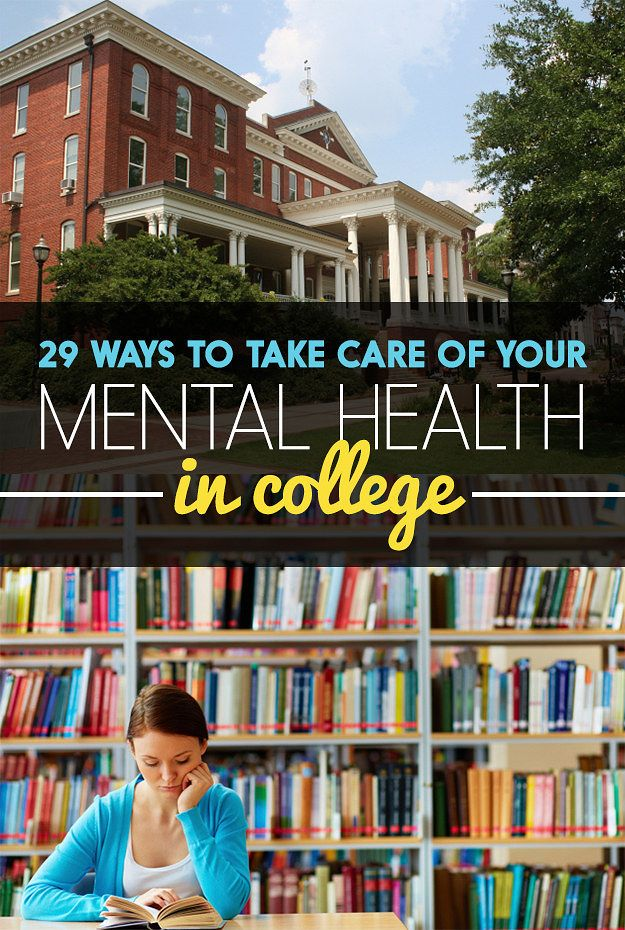 Campus life can be a big stressful shitshow sometimes. Here's how to look after your mental health the right way.