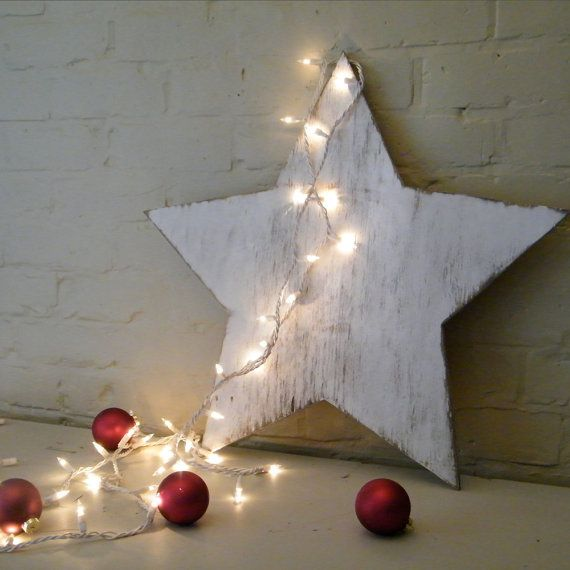 Holiday Star Wooden Star Winter Christmas Decor by SlippinSouthern, $23.00