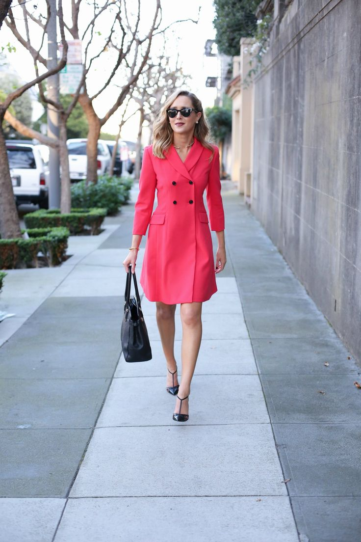 5 red double breasted suit dress ellen tracey working women work style office attire business fashion style blog mary orton memorandum san francisco sf