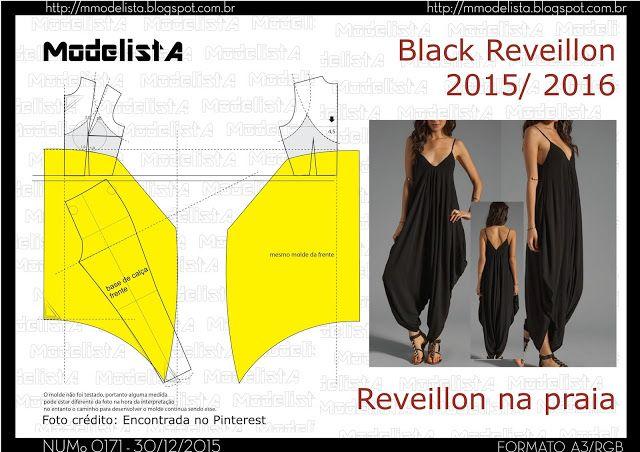 ModelistA: A3 NUMo 0171 JUMP - MACACÃO SARUEL > BLACK REVEILL...
