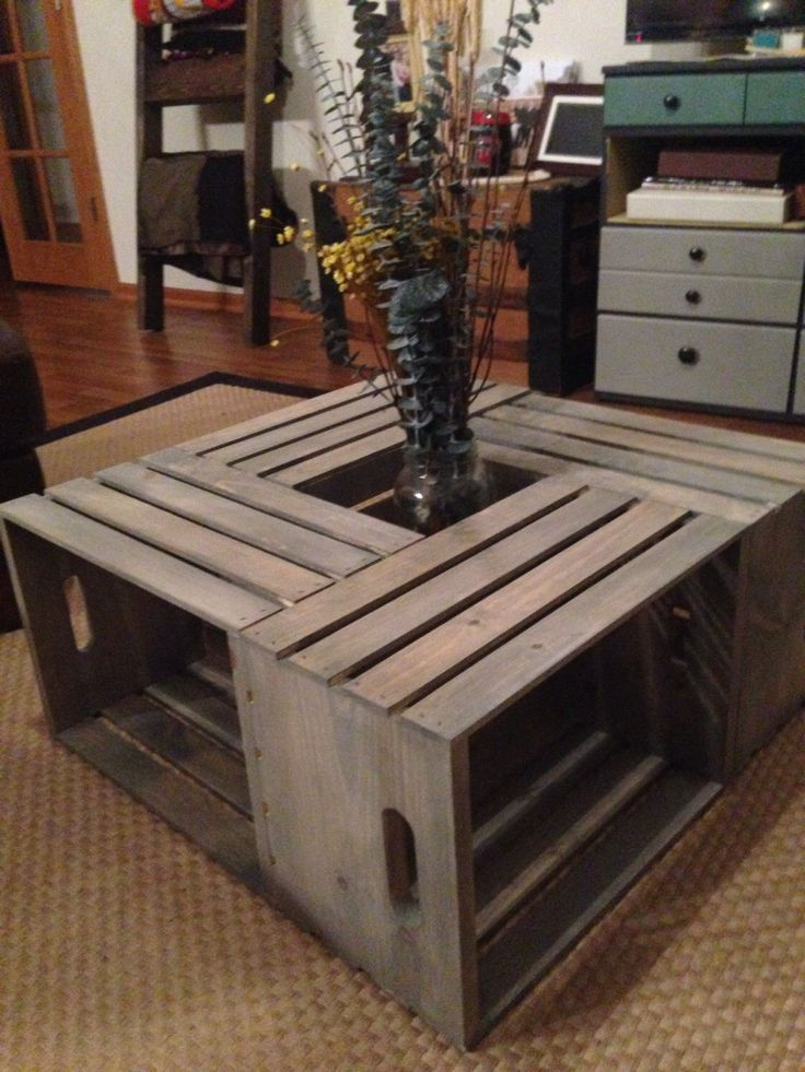 1000 Ideas About Wine Crate Coffee Table On Pinterest Crate Coffee Tables Wine Crates And Crates
