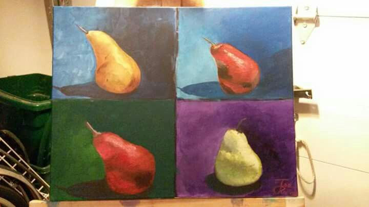 Paers Acrylic on stretched canvas 16x20