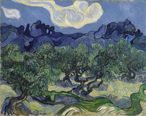 MoMA collection: The Olive Trees  Vincent van Gogh (Dutch, 1853–1890), Saint Rémy, June-July 1889.