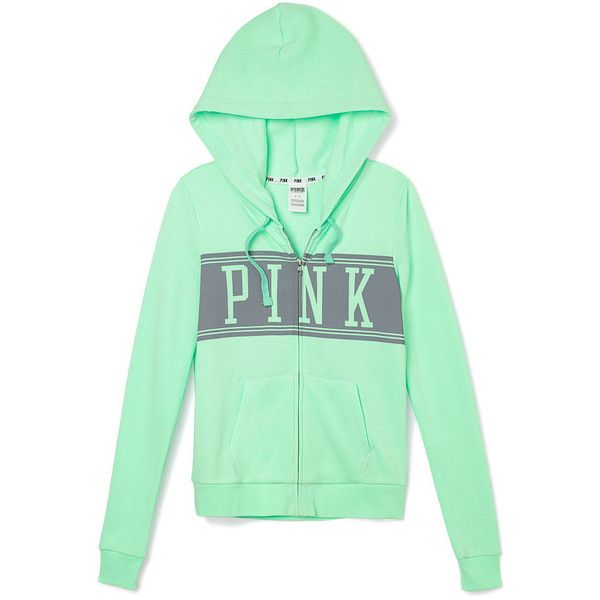 Victoria's Secret Perfect Zip Hoodie,white found on Polyvore