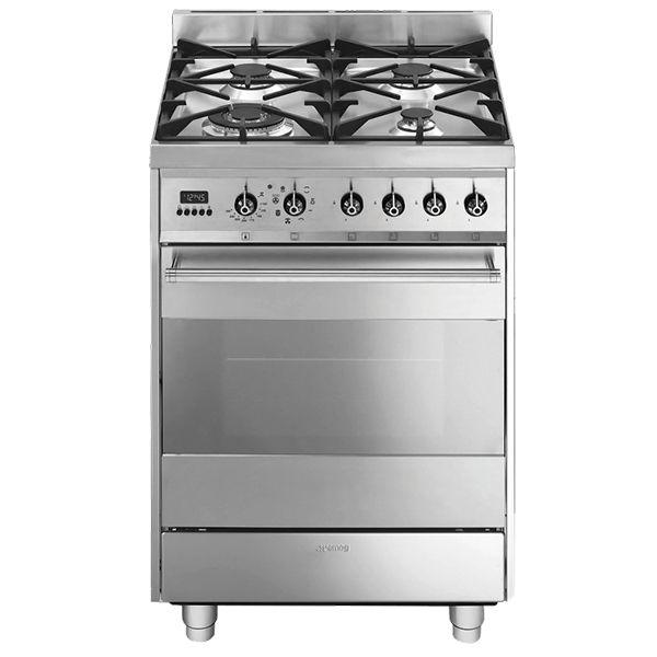 E&S Trading | Kitchen, Bathroom & Laundry - Smeg 60cm Freestanding Cooker Multifunction Oven & Gas Hob C6GMXA8