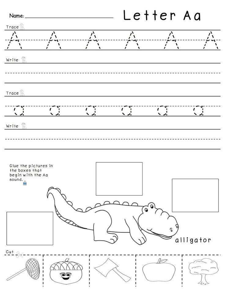 AZ tracing, writing, and beginning sounds practice