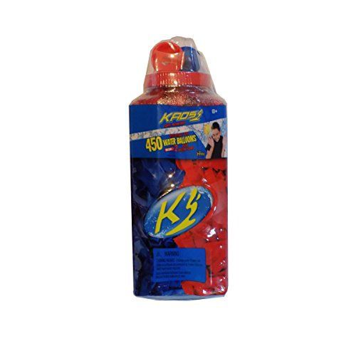 Kaos Red & Blue Biodegradable Latex Water Balloons - 450 Count and 2 Deluxe Balloon Fillers 450 Red and Blue Water Balloons. Balloons are made from a biodegradable latex, safer for the environment. Set includes 2 Deluxe balloon fillers. Attach to a hose o