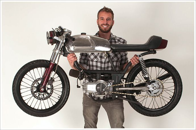 "Rogue Creation's ""Blood Lust"" Moped - Pipeburn - Purveyors of Classic Motorcycles, Cafe Racers & Custom motorbikes"