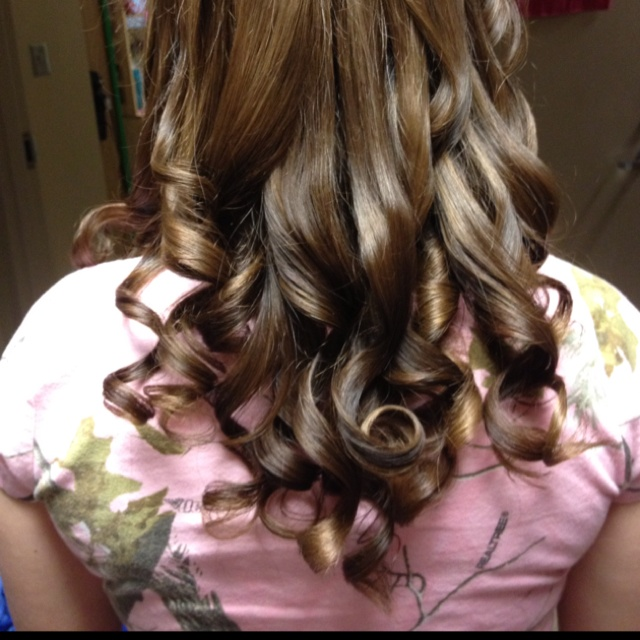 I curled my roomies hair with a hair straightener