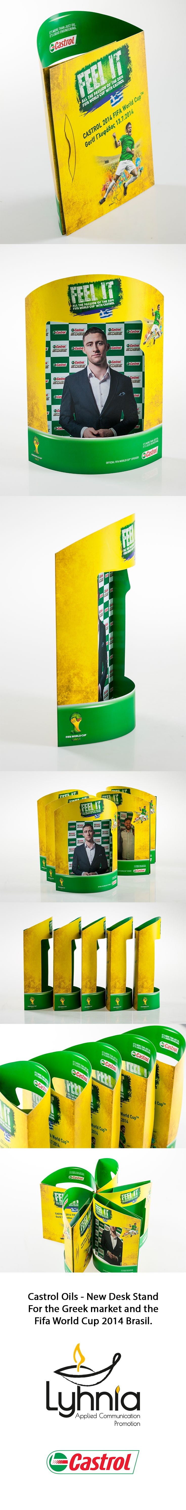Castrol Oils - New Desk Stand for the new products sponsored by Fifa World Cup Brasil 2014.