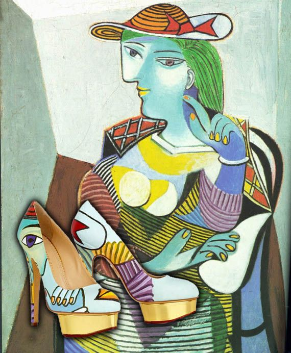 pablo picasso most famous paintings names   Famous Paintings On High Heel Shoes   Incredible Things