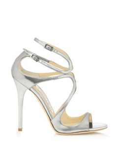 JIMMY CHOO Mirror Leather Sandals