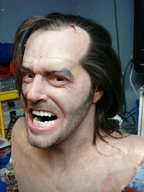 "Busto realista de Jack Nicholson, a laJack Torance de ""O Iluminado"".: Artists Bobby, Realistic Sculpture, Bust Sculpture, Art Inspiration, Head Sculpture, Movie Character, Arti Boards, Bobby Causey, Meaning Inspiration"