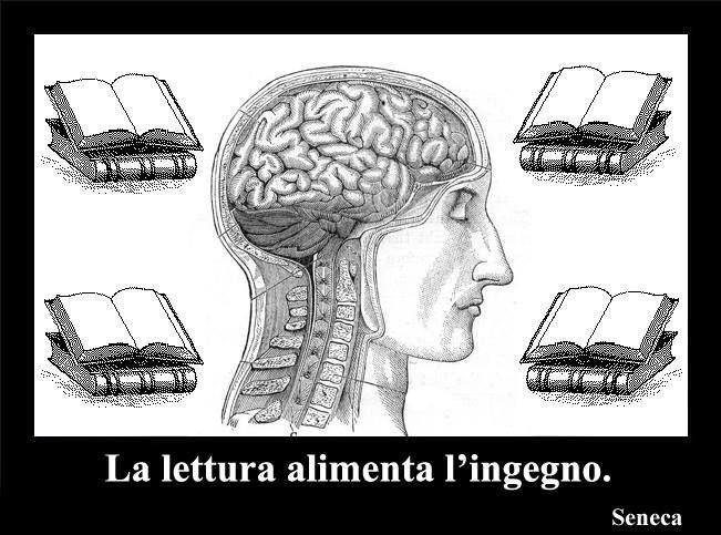 "Seneca ""La lettura alimenta l'ingegno"""