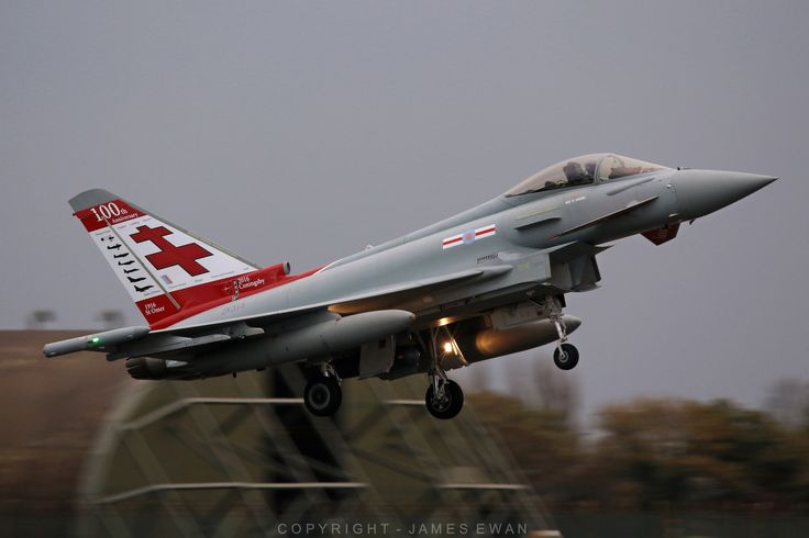 Royal Air Force Eurofighter Typhoon FGR4 ZK315 (41(R) TES Squadron Centenary jet) - RAF Coningsby