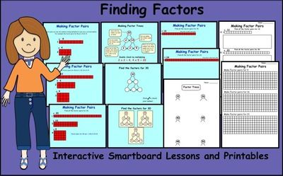Finding+Factors+Interactive+Smartboard+Lessons+and+Printables+from+Teaching+The+Smart+Way+on+TeachersNotebook.com+-++(11+pages)++-+Interactive+Smartboard+Lessons+and+Printable+pages+to+teach+Factors